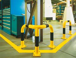 Arceaux de protection métallique d'angle de sécurité finition epoxy
