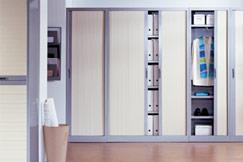 Exemple d'armoires de rangement