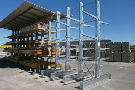 Cantilever lourd galvanisé avec toiture pour usage extérieur