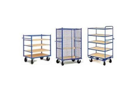 Chariots avec étagères bois ou métallique réglables