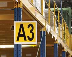 Drapeaux PVC/métal de signalisation pour entrepôts