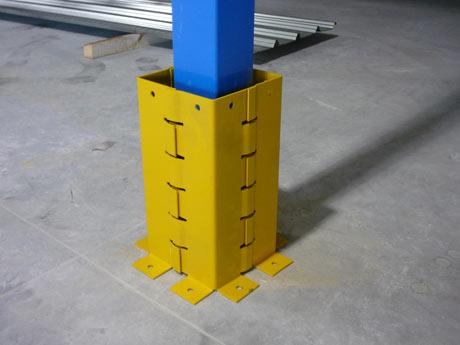 Protection métallique pour poteau de rochelle et mezzanine
