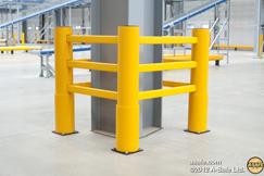 Protection des poteaux et piliers de charpentes industrielles