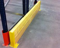 Protection latérale en UPN ou HEA type madrier/bastaing/bois pour tous types de rayonnages